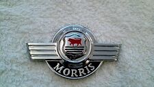 EARLY MORRIS MINOR BRAND NEW BONNET BADGE.  RARE FIND (FREE UK POST)
