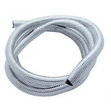 "*Wire Loom Conduit - Chrome Color Plastic - 1/2"" Diameter - 72 Inches Long"