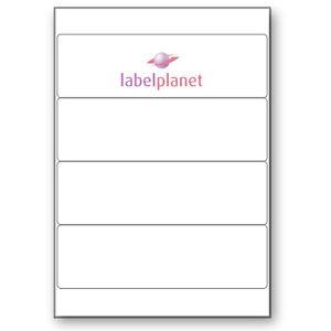 4 Per Page White A4 Lever Arch File Laser/Inkjet Printer Labels Label Planet®