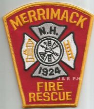 "Merrimack  Fire - Rescue  1924, New Hampshire  (4"" x 4.5"" size)  fire patch"