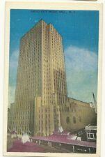 Radio City Music Hall NY New York City New York   Postcard