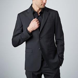 Moschino 2 Piece Suit Narrow Pinstripe Black 52 EUR UK 42 TD092 MM 15