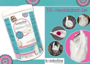 3D Handabdruck Gipsabdruck Set, Baby 7-8 Abdrücke oder Mutter mit Baby (1 Abdr.)
