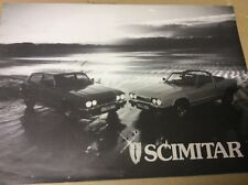 Reliant Scimitar GTE GTC fold out brochure 1984