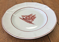 1 Dinner Plate Wedgwood Flying Cloud Rust Clipper Ship Multisided 113617 Larger