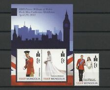 Kate, William, Royal Wedding - Mongolei - ** MNH 2011