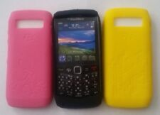 BlackBerry Pearl 9100 & 9105 Triple Silicone Skin Pack PINK / BLACK /YELLOW NEW