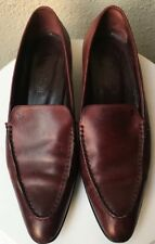 TOD'S POINTY TOE WOMEN'S LOAFERS IN WINE LEATHER COLOR SIZE 7 MEDIUM