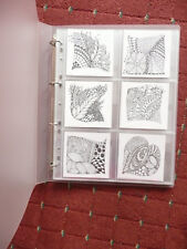 Zentangle Enigma 45mm Spine A4 Portrait Binder + 10 acid free pockets(6 section)