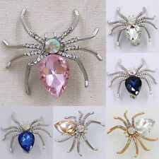 New Men's Women's Spider Crystal Rhinestone Hot Sale Brooch Pin Party Jewelry