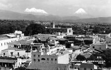 RPPC Panorama Cuernavaca, Morelos, Mexico Bird's Eye View Postcard ca 1940s
