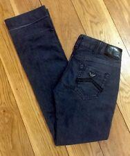 ARMANI AJ Ladies Women Stretchy Bootcut  Jeans Size W29 L34 Low Rise Tall Black