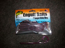 """20 Pack of 7"""" Bungee Reflex Worms in PURPLE CAMO"""