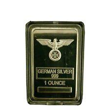 1 Unze Reichsadler Eisernes Kreuz Deutsches Reich 999 Silberbarren Neusilber PP