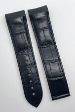 Omega Seamaster Planet Ocean 22mm Black Alligator Strap OEM Cal.8500 98000370