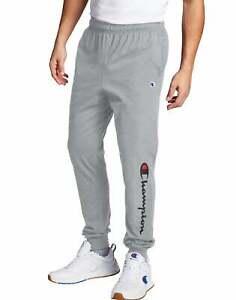 Champion Men's Jersey Joggers Athletics Classic Workout Lounge Pants Script Logo