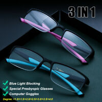 Reading Glasses Blue Light Blocking Presbyopia Eyeglasses Computer Goggles
