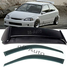 For 96-00 Honda Civic EK9 3DR TYPE-R Rear Roof Spoiler Wing + Window Rain Visor