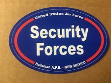 US AIR FORCE SECURITY FORCES HOLLOMAN NEW MEXICO Sticker - 4 3/4 Inch OVAL
