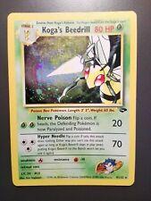 Pokemon Koga's Beedrill 9/132 Gym Challenge - Holo Rare Eng - Ex / Gd