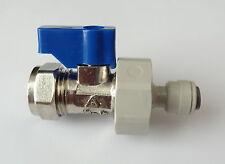 American Fridge Freezer 15mm Valve and 1/4 Inch Water Pipe Adaptor