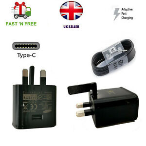 For Samsung Galaxy S8+ S9+ S10 Plus Note 8 Fast Mains Charger Type-C Cable LOT