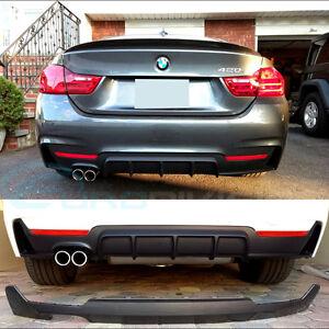 BMW 4 Series F32 F33 F36 M Performance Style Rear Diffuser 420i 420d 428i 430i F