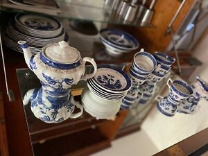 royal doulton dinner & Tea Set Booths Real Old Willow