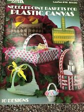 NEEDLEPOINT BASKETS FOR PLASTIC CANVAS, 10 PROJECTS in plastic canvas