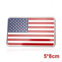 US American Flag 3D Car Sticker  Decor Decal Badge Emblem Adhesive Aluminium