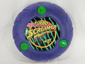 Vintage NERF Purple TURBO SCREAMER Flying Disk Foam Frisbee Kenner 1991