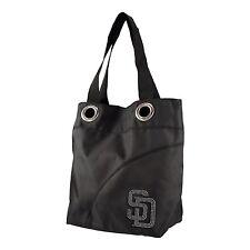 MLB San Diego Padres Sport Noir Sheen Tote Purse, Black