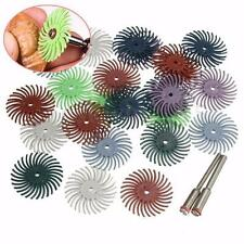 """24x Radial Bristle Disc Brush Assortment 1"""" 8-GritS-3 Each + 2 Connection Handle"""