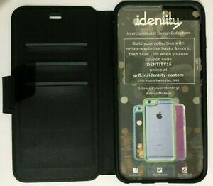 Griffin Identity Wallet Flip Case Rubber iPhone 6Plus / 6S Plus - Black +2 Backs