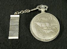 Hunting Dog - Not Working Vintage Westclox Pocket Watch Deer Buck