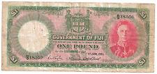 FIJI 1 POUND 1951 KING GEORGE VI VERY FINE