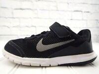 Nike Kids Flex Experience 749809-001 Black Gray Elastic Laces US 13C UK 12.5