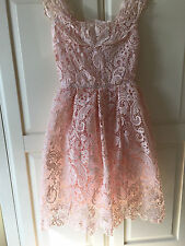 Peach lace dress size L (14) prom/wedding new with tags