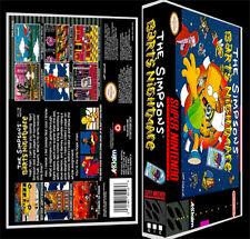 The Simpsons Barts Nightmare - SNES Reproduction Art Case/Box No Game Nintendo