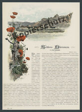 Willi Gause Farb-Panorama Dürnstein Schloß Donau Wachau Topographie Krems 1893