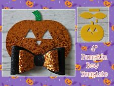 "🎀4"" Pumpkin Bow Plastic Templates  🎀"