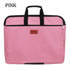 Handle Durable Waterproof  A4 Size Handbag Files Bag Double Layers File Folder