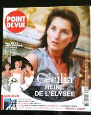 Point de Vue 1/8/2007; Cécilia Sarkozy/ Bal de la croix-rouge/ Zaher Shah/ Kate