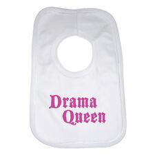 Drama Queen - Bébé Bavoir personnalisé pour filles - Blanc Coton Doux