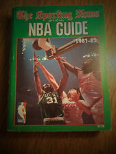 1981-1982 NBA SPORTING NEWS OFFICIAL NATIONAL BASKETBALL ASSOCIATION GUIDE