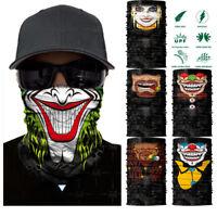 Clown Cycling Motorcycle Neck Tube Ski Scarf Face Mask Balaclava Halloween Party