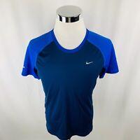 Nike Miller Running Dri-Fit Black BlueT-Shirt Mens Medium M