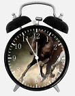 """Black Horse Alarm Desk Clock 3.75"""" Home or Office Decor E376 Nice For Gift"""