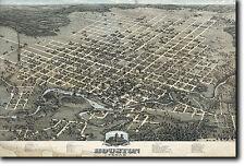 Mappa di Houston Texas da 1873-STORICO VECCHIO VINTAGE FOTO STAMPA POSTER USA
