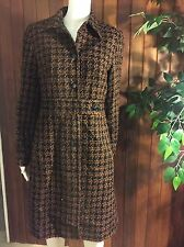 SIGNATURE By LARRY LEVINE Lovely tweed  dress coat;NW/OT; size 8